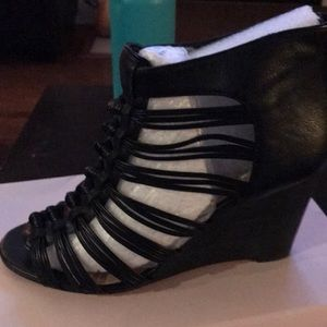 Sole society Julianna Hough caged wedge